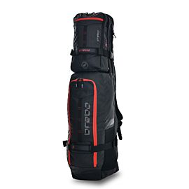 Brabo Stickbag TeXtreme Kangaroo hockeytas black red