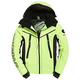 Superdry Downhill Racer Padded winterjas heren rescue yellow black