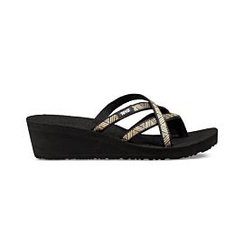 Teva Tanza Mush Mandalyn Wedge Ola 2 slippers dames agave black metallic