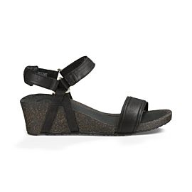 Teva Ysidro Stitch Wedge sandalen dames black