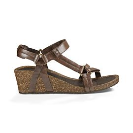 Teva Ysidro Universal Wedge sandalen dames metalic brown metalic