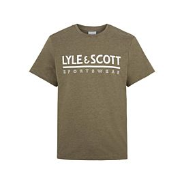 Lyle & Scott Large Logo Fitness shirt heren olive marl