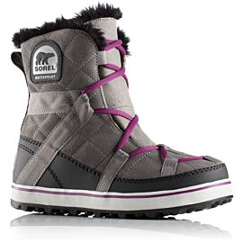 Sorel Glacy Explorer Shortie snowboots dames purple quarry