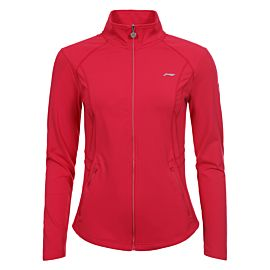 Li-Ning Valonia midlayer trainingsjack dames cranberry