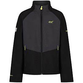 Regatta Varro softshell jack junior black ash
