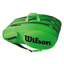 Wilson Team III 12 pack tennistas green black zijkant1