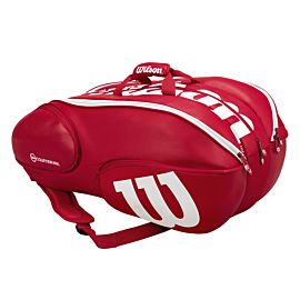 Wilson Vancouver 15 pack tennistas red white zijkant