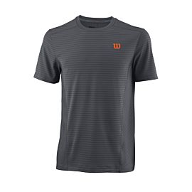 Wilson UW II Linear Crew tennisshirt heren turbulence burn orange voorkant