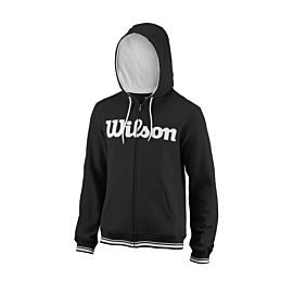 Wilson Team Script Full-Zip Hooded trainingsjack heren black white voorkant