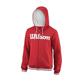 Wilson Team Script Full-Zip Hooded trainingsjack heren red white voorkant