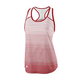 Wilson Team Striped tennis tanktop dames red white voorkant
