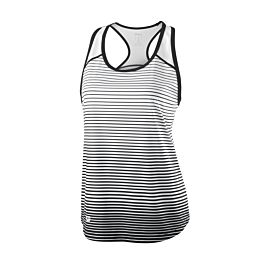 Wilson Team Striped tennis tanktop dames black white voorkant