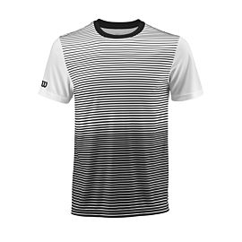 Wilson Team Striped Crew tennisshirt heren black white voorkant
