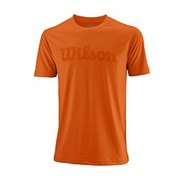 Wilson UW II Script Tech tennisshirt heren burn orange voorkant
