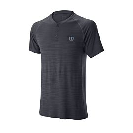 Wilson Competition Seamless Henley tennisshirt heren ebony