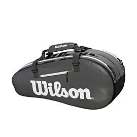 Wilson Small Super Tour 2 Compartments tennistas black grey