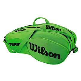 Wilson Team III 6 pack tennistas green black voorkant