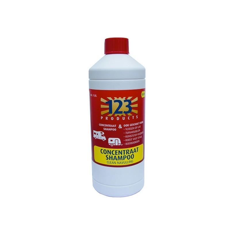 123 Products Clean Shampoo concentraat navulverpakking 1 liter
