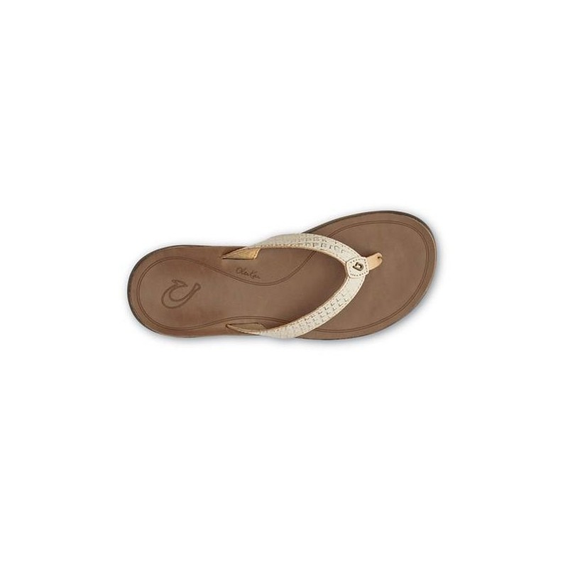 Olukai Pua leer slippers dames bubbly