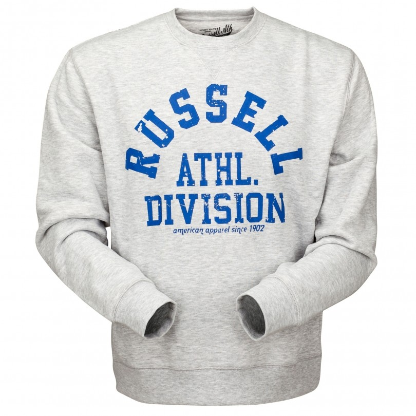 Russell Athletic Crew Neck trui heren bright grey marl