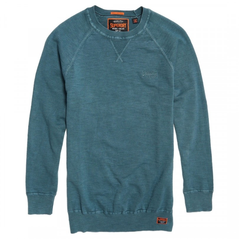 Superdry Garment Dye L.A. Crew trui heren washed dry diesel
