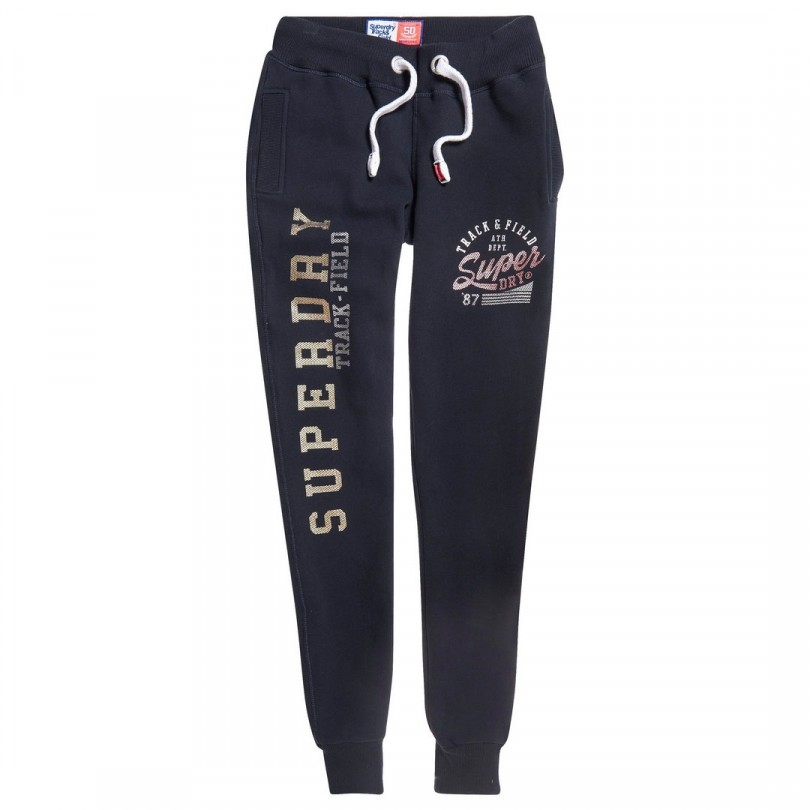 Superdry Track & Field Joggers joggingbroek dames eclipse navy