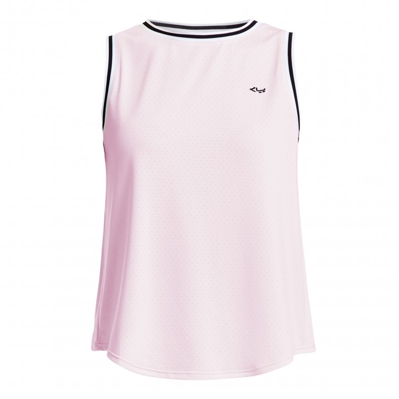 Röhnisch Pleated Cropped Singlet fitness top dames cherry blossom
