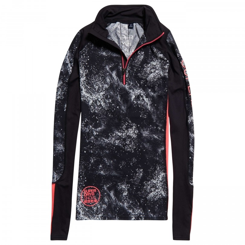 Superdry Carbon Baselayer skipully dames snow spray