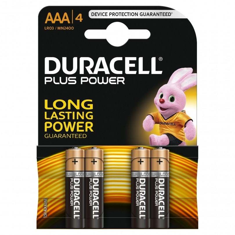 Duracell Plus Power Duralock Alkaline AAA/LR03 batterij