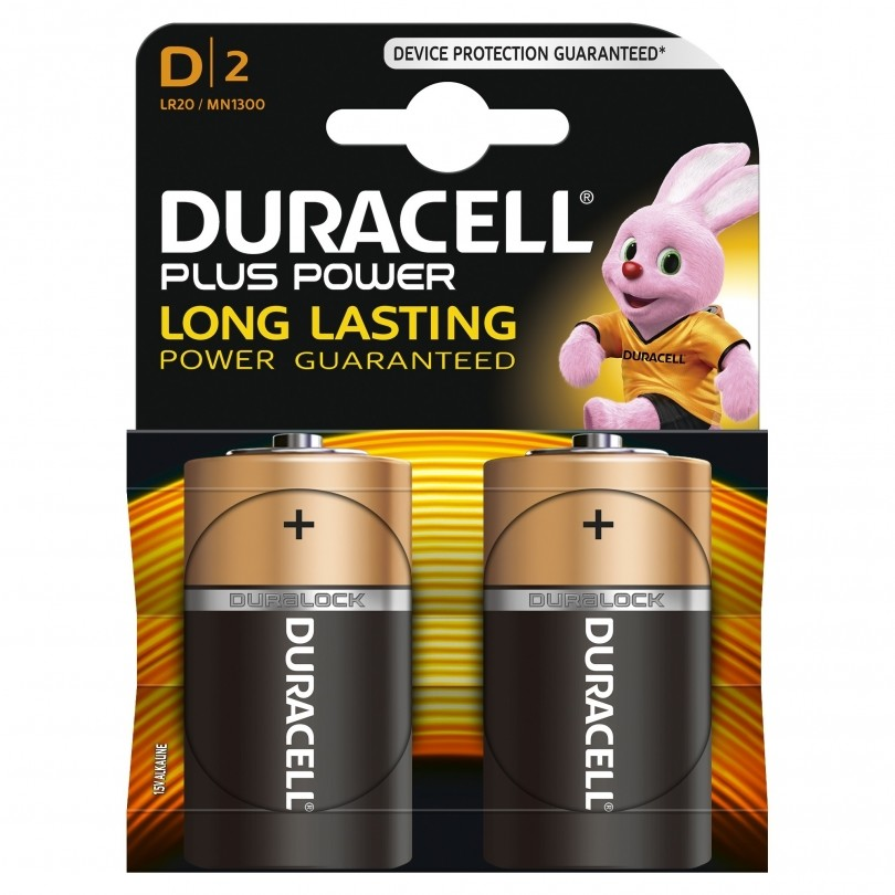 Duracell Plus Power Duralock Alkaline D/LR20 batterij