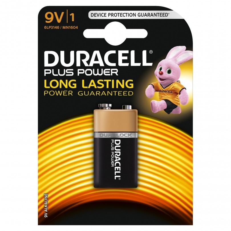 Duracell Plus Power Duralock Alkaline 6LR61 9V batterij