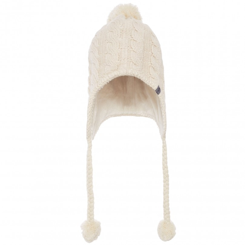 The North Face Fuzzy Earflap Beanie muts dames vintage white