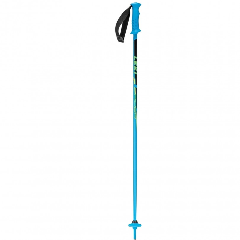 Leki Rider skistokken junior cyan green yellow