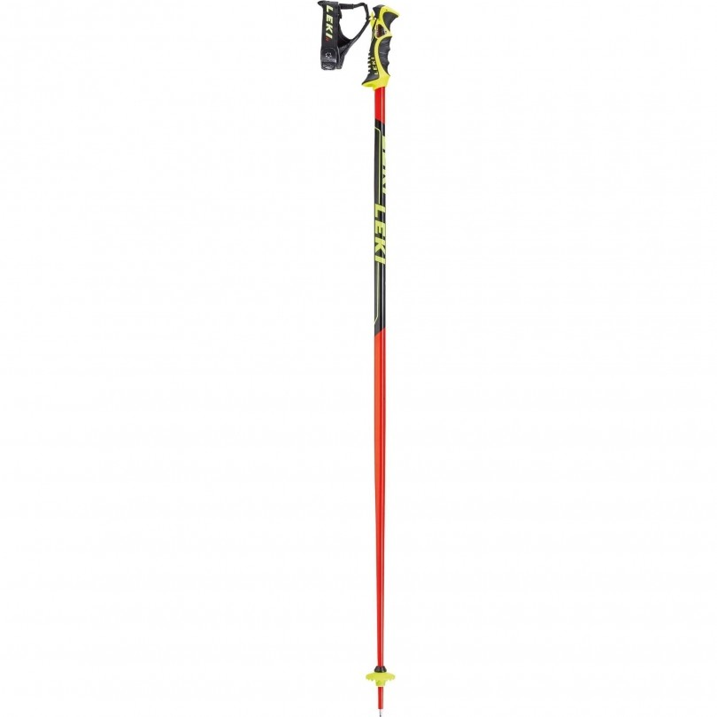 Leki Worldcup Racing SL skistokken red black white