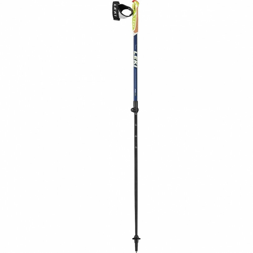 Leki Spin Shark SL nordic walking stok blue metallic white line