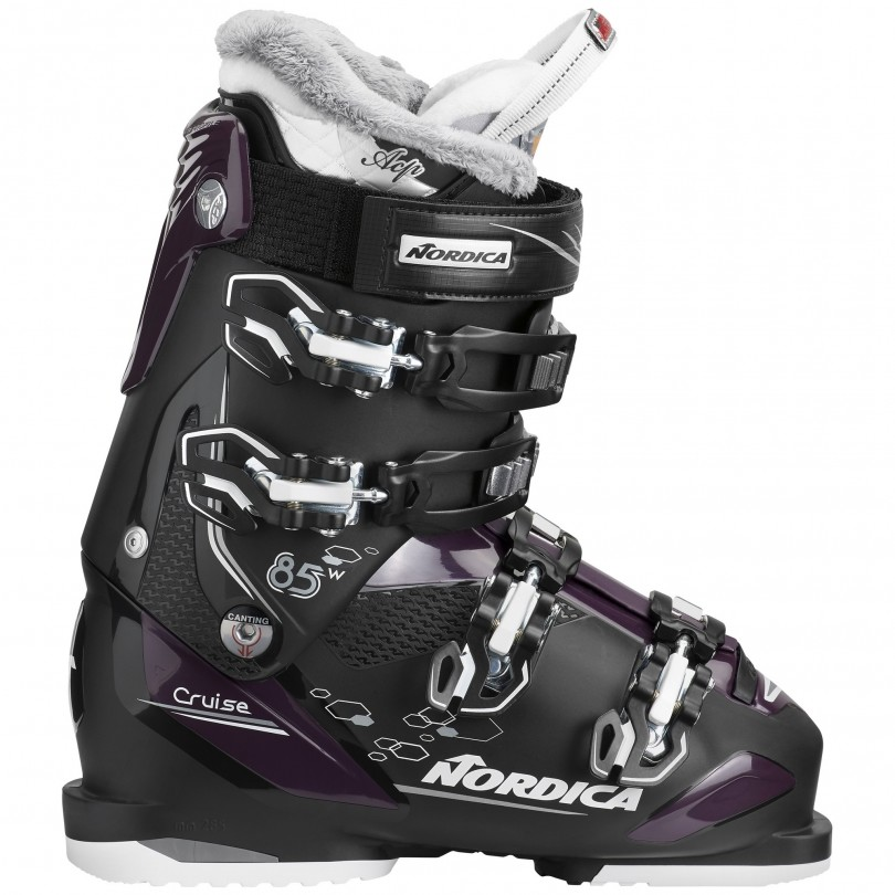 Nordica Cruise 85 skischoenen dames black purple white