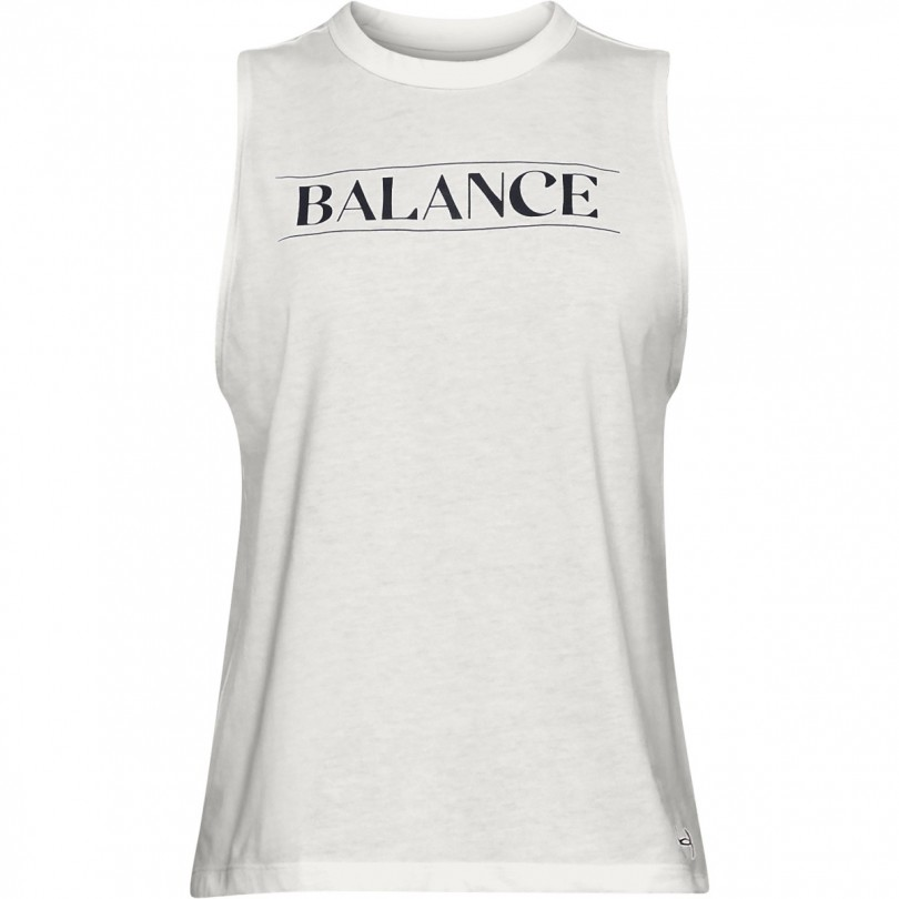 Under Armour UA Balance Graphic top dames onyx white