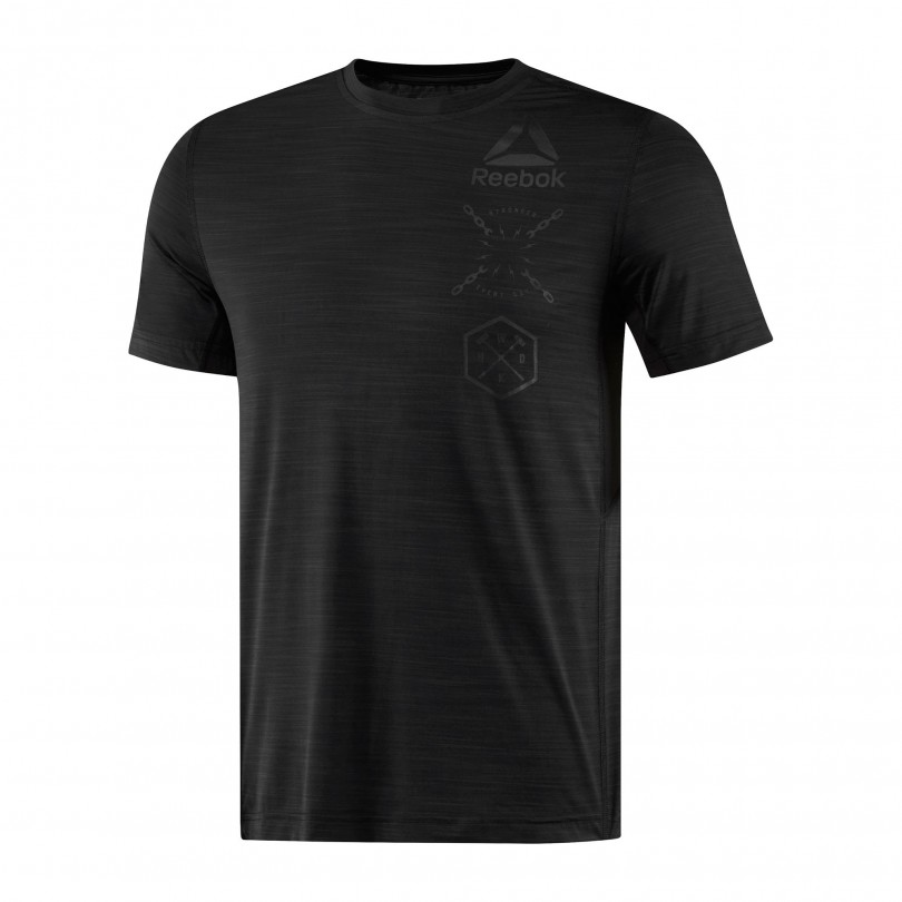 Reebok Activchill Graphic fitness shirt heren black
