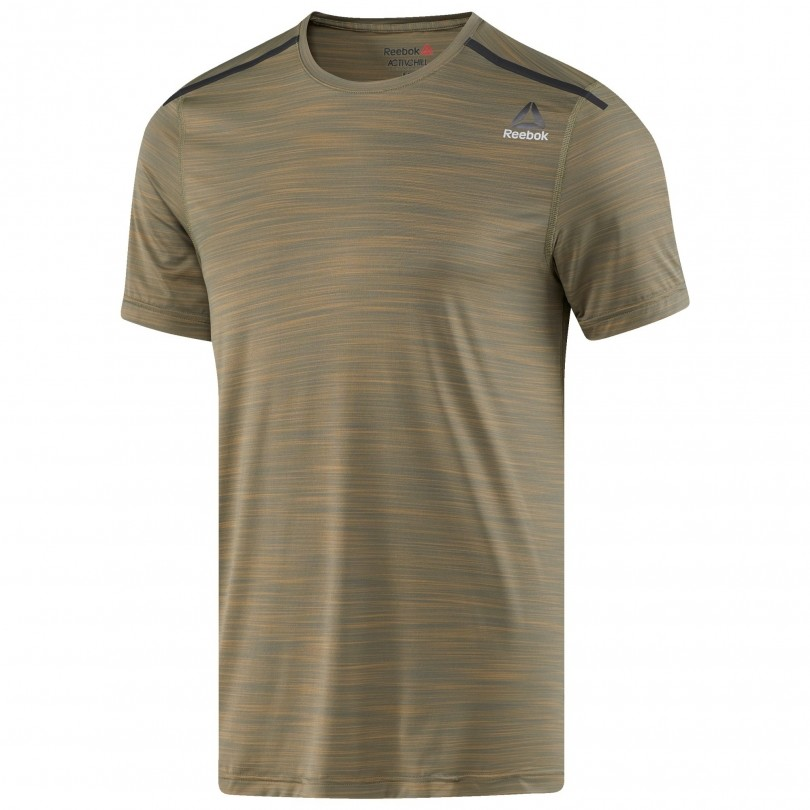 Reebok Activchill fitness shirt heren army green