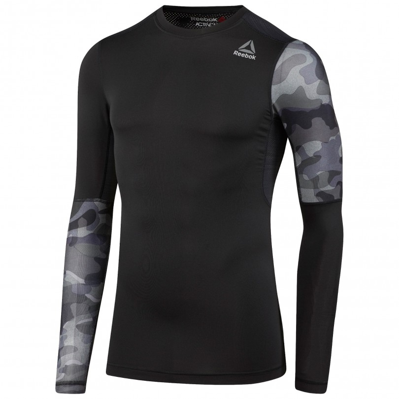 Reebok Activchill Graphic Compressie fitness shirt heren black