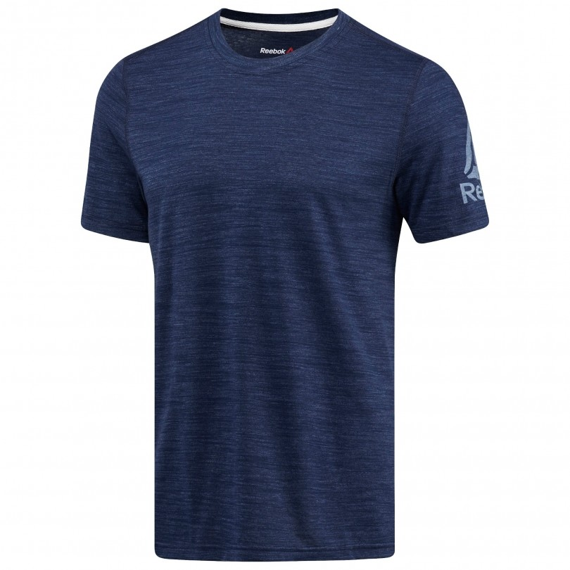 Reebok Elements Prime fitness shirt heren collegiate navy