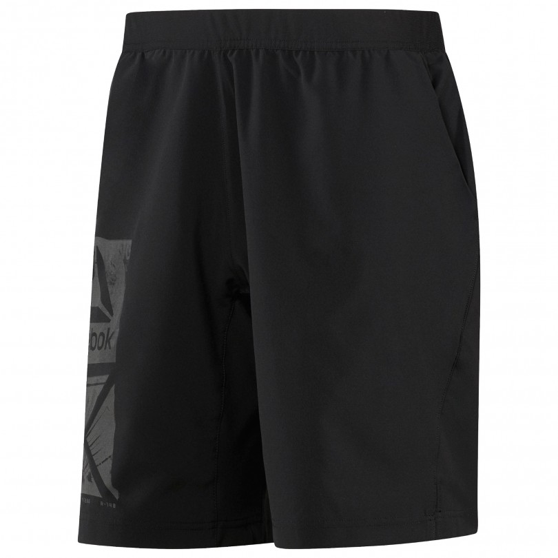 Reebok Graphic Speed Short fitness broek heren black