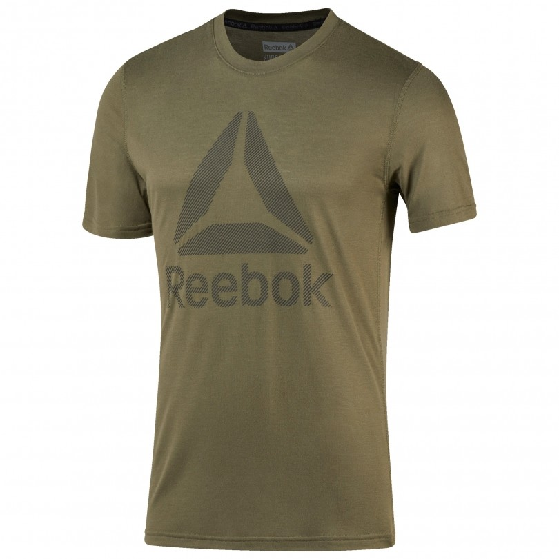 Reebok Workout Ready Supremium 2.0 shirt heren army green
