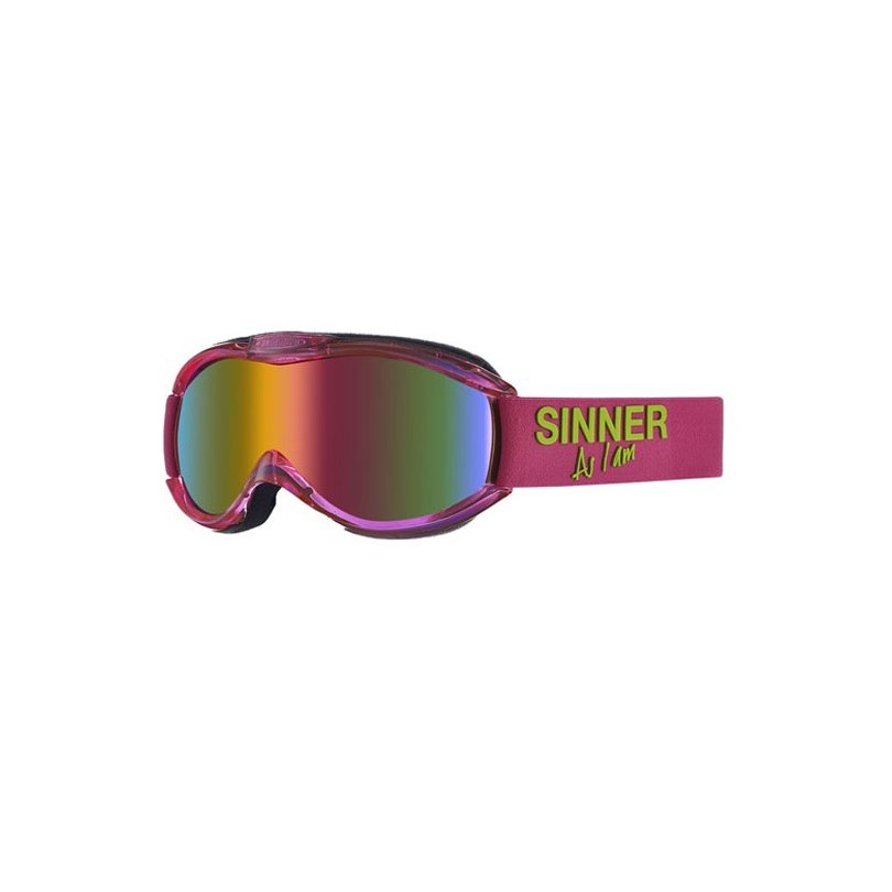 Sinner Toxic skibril clear neon pink