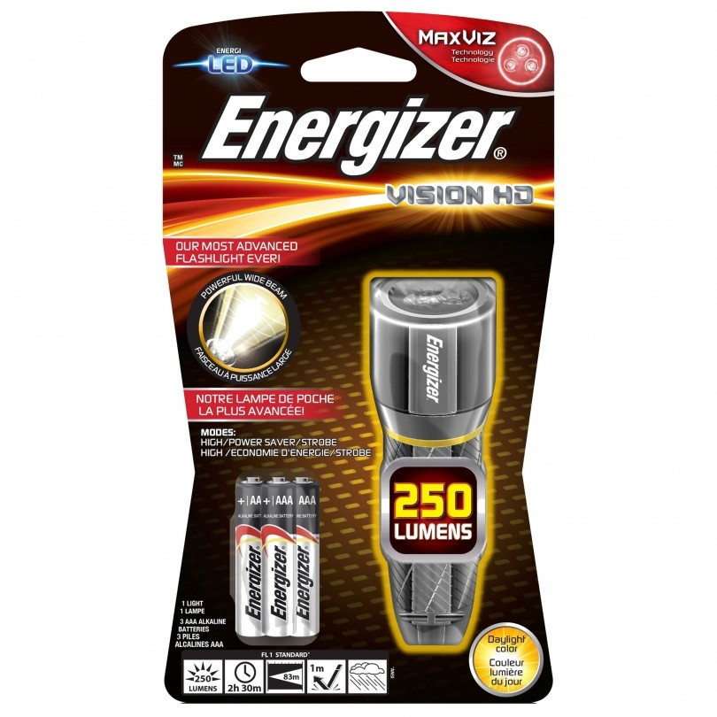 Energizer Vision HD Metal led + 3 x AAA zaklamp