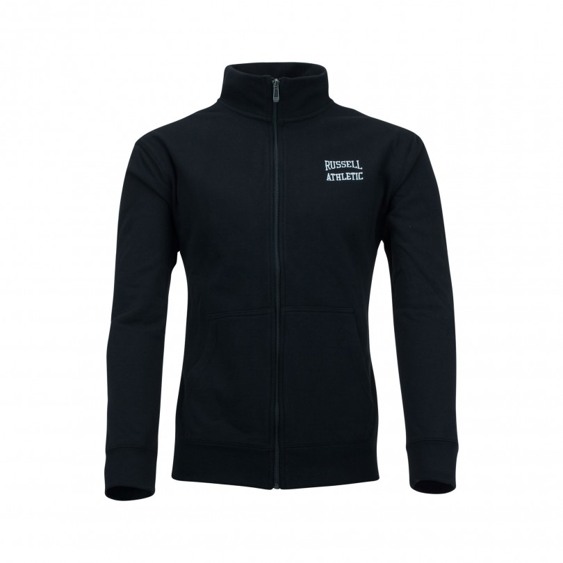 Russell Athletic Zip Through Track vest black