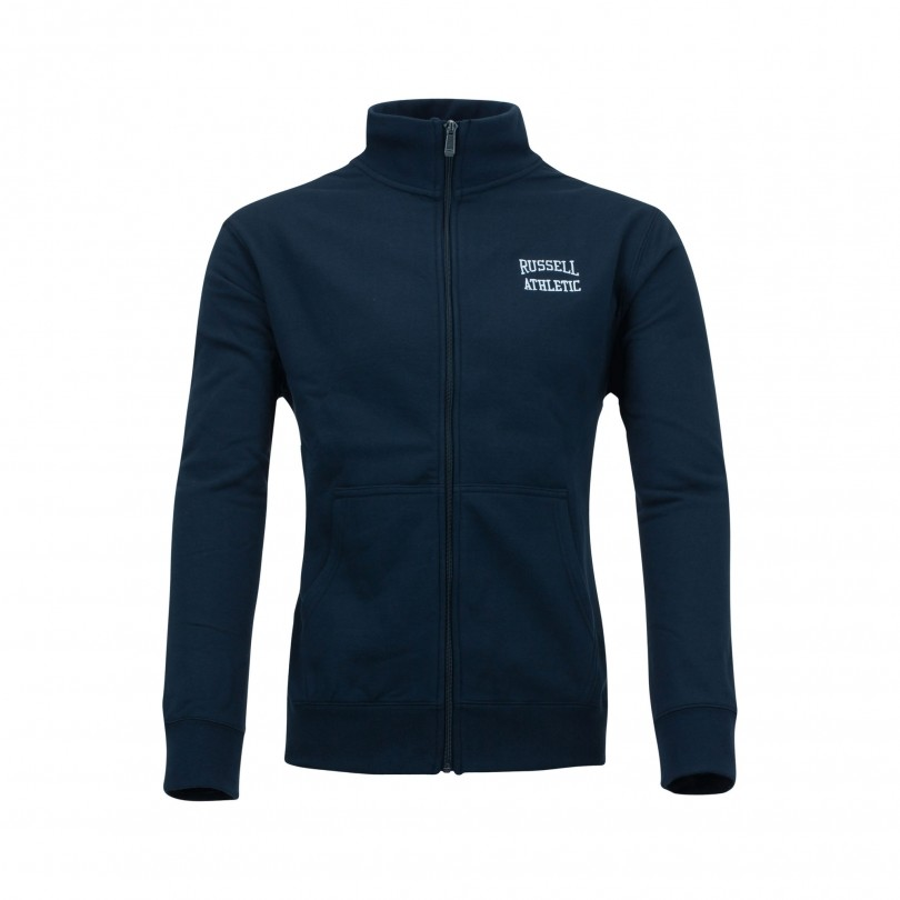 Russell Athletic Zip Through Track vest navy