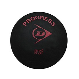 dunlop progress squashbal black