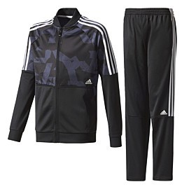 adidas train ts trainingspak junior black blue
