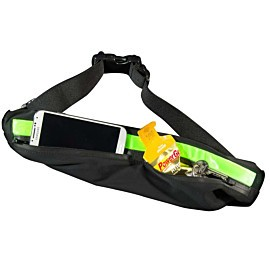 bee sports led waist bag lime